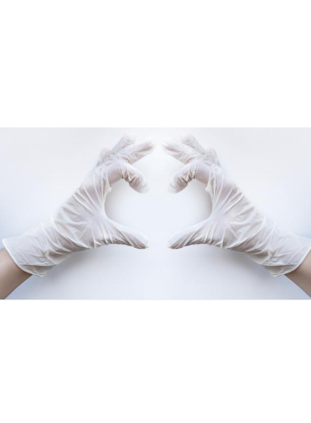 ラテックス製実験用手袋